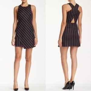 Rebecca Minkoff Juno Wool Striped Dress Mini